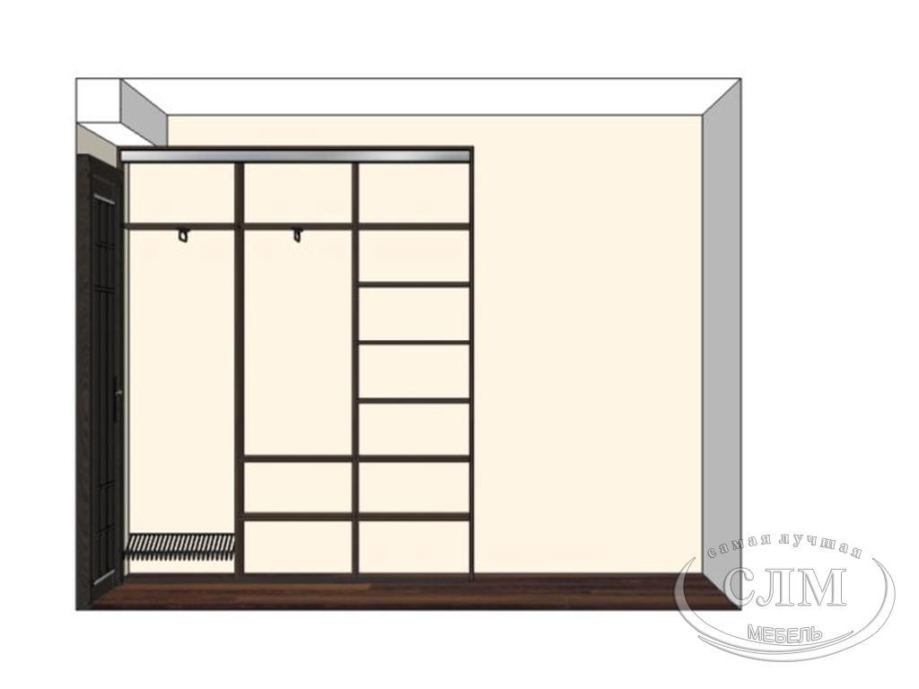 схема наполнения шкафа купе
